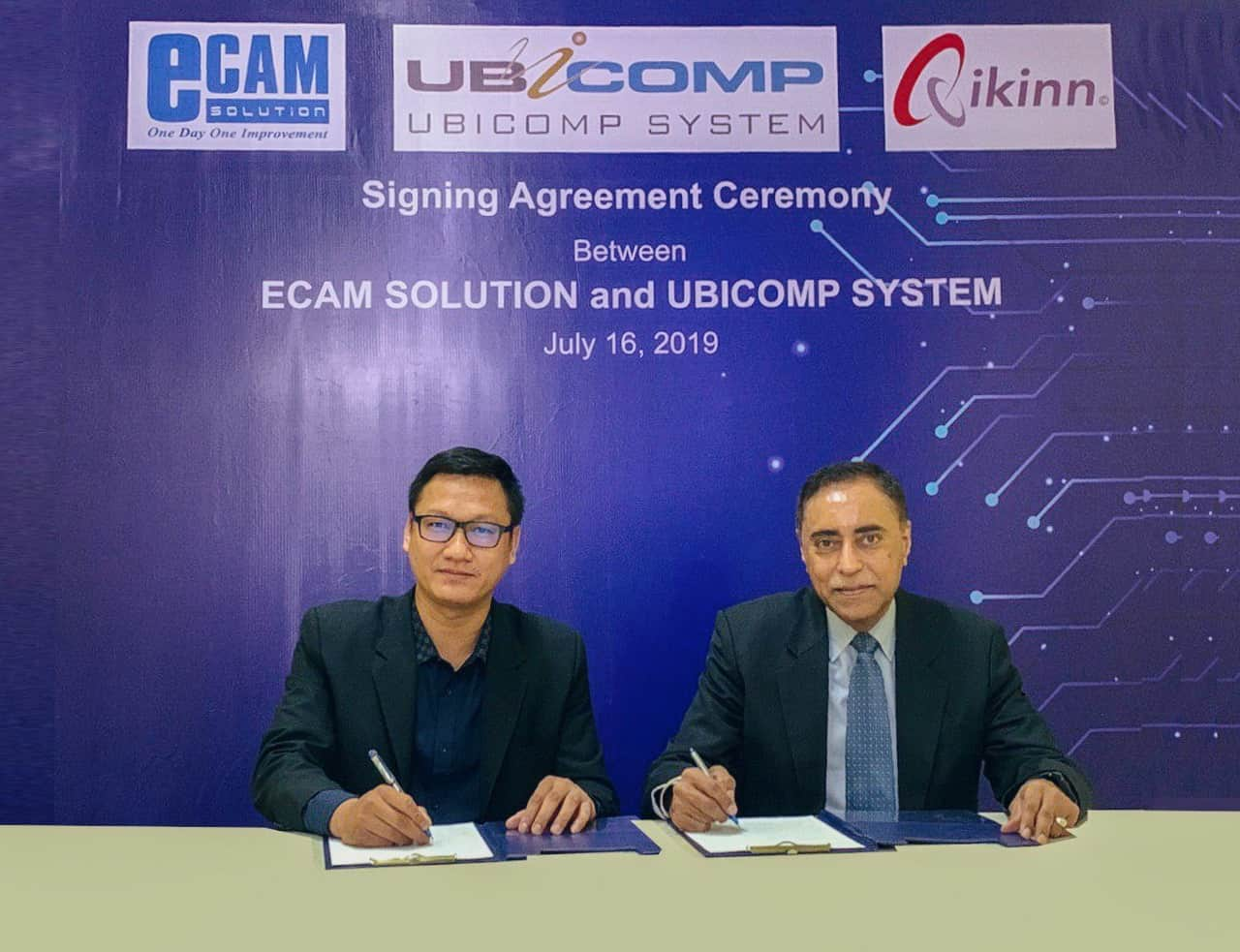 eCam Solution Company partners with UbiComp System to promote Qikinn<sup>©</sup> to Hotels in Cambodia