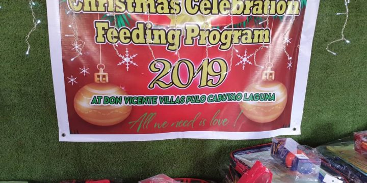 4th Christmas Party in Cabuyao for underprivileged kids